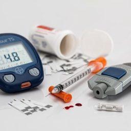 A collection of diabetes supplies